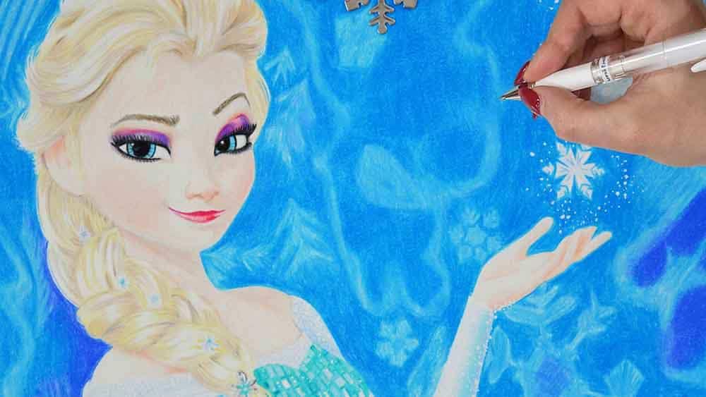 Drawing Elsa Frozen Disney Drawings
