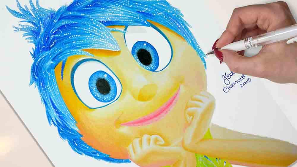 Drawing Joy Inside Out - Dinsey Drawings
