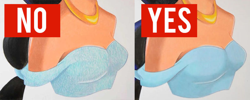 how to blend colored pencils tutorial