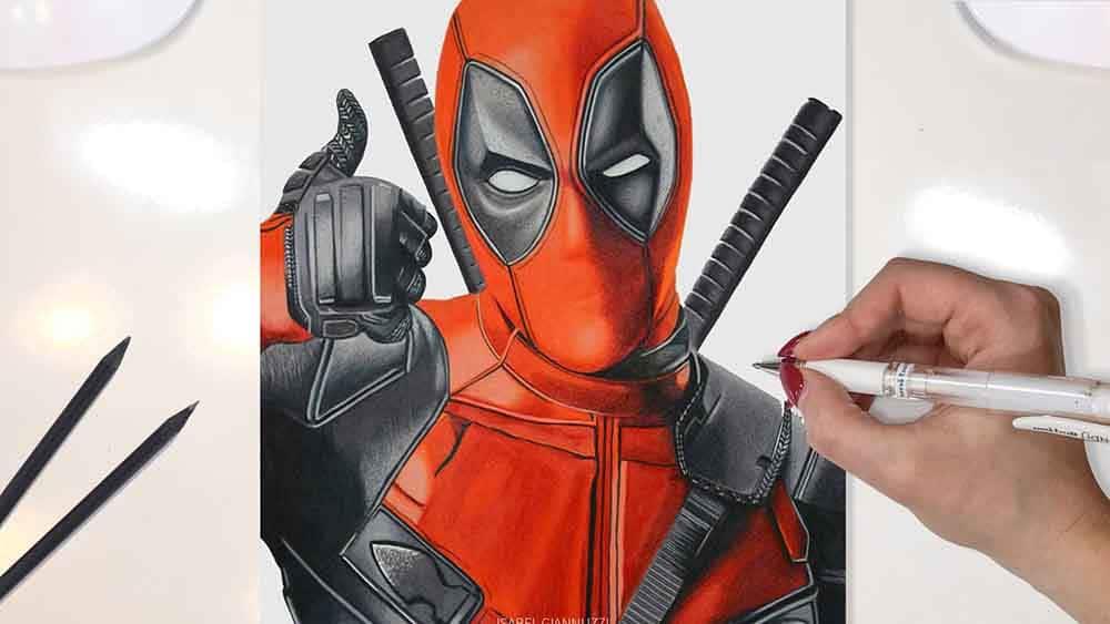 Drawing Deadpool Marvel