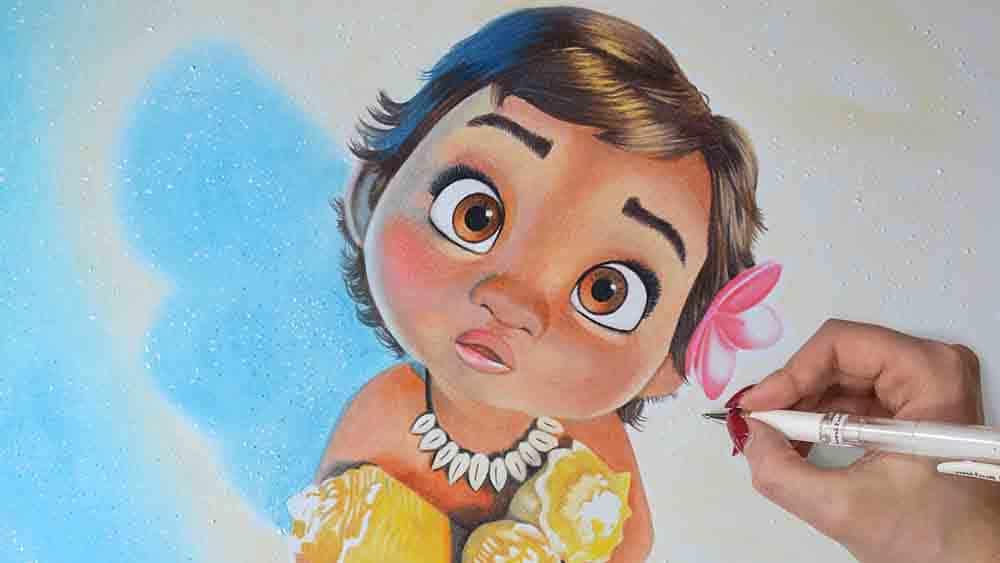 Drawing Moana Disney
