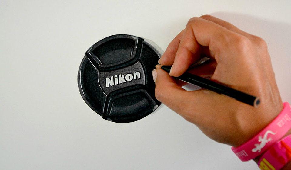Drawing Nikon Cap