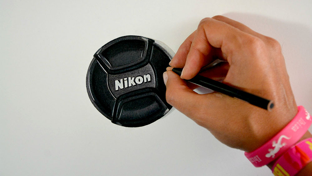 Drawing Nikon Cap