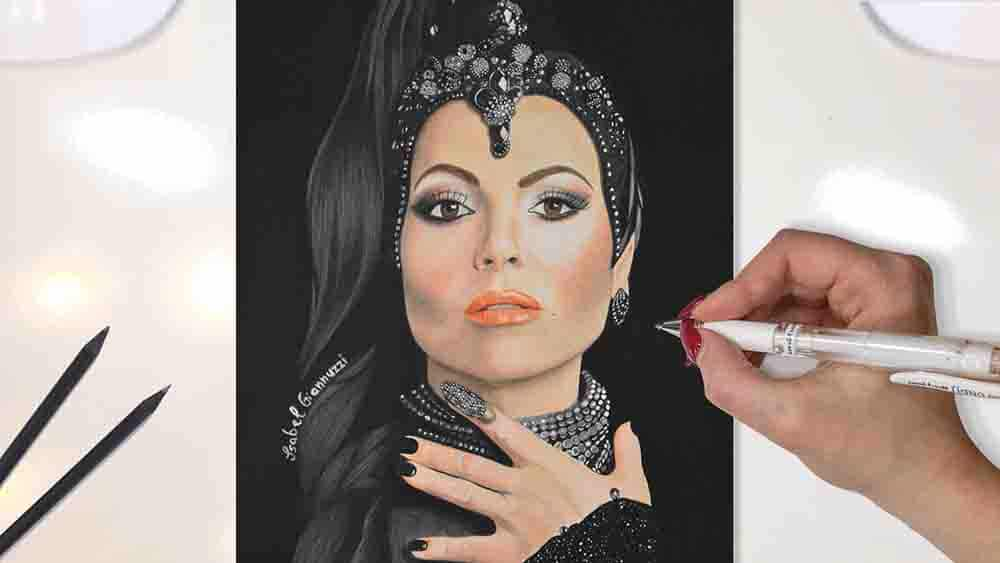 Drawing the Evil Queen Once Upon a Time