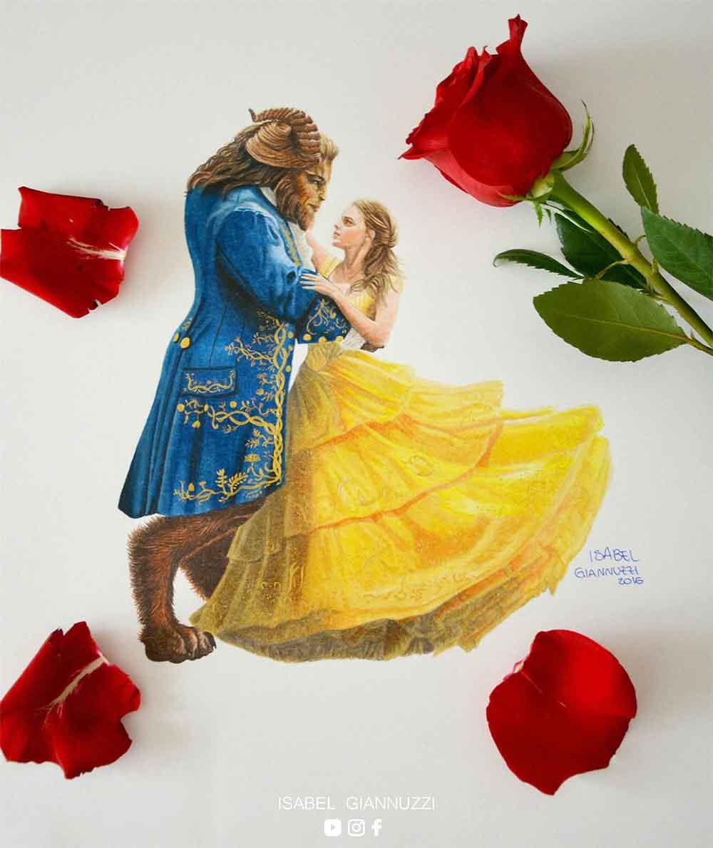 Disegno La Bella e La Bestia Disney