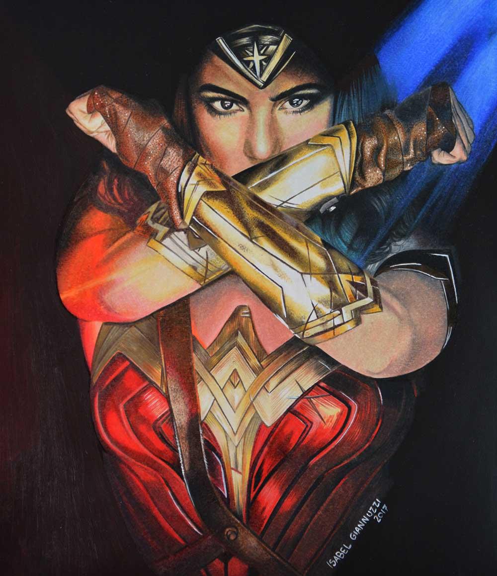 drawing wonder woman
