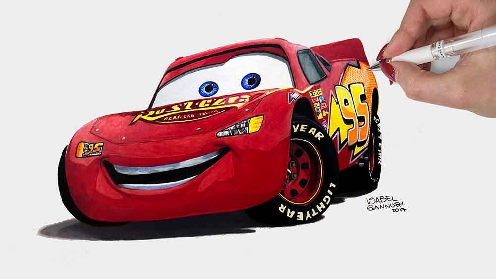 Drawing Lightning McQueen Cars 3 Disney