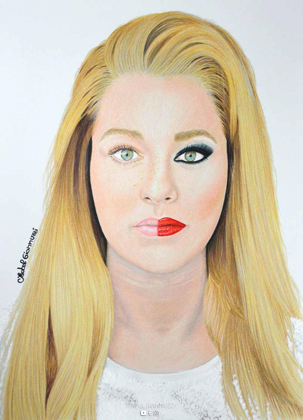 Colored Pencils Portrait Art