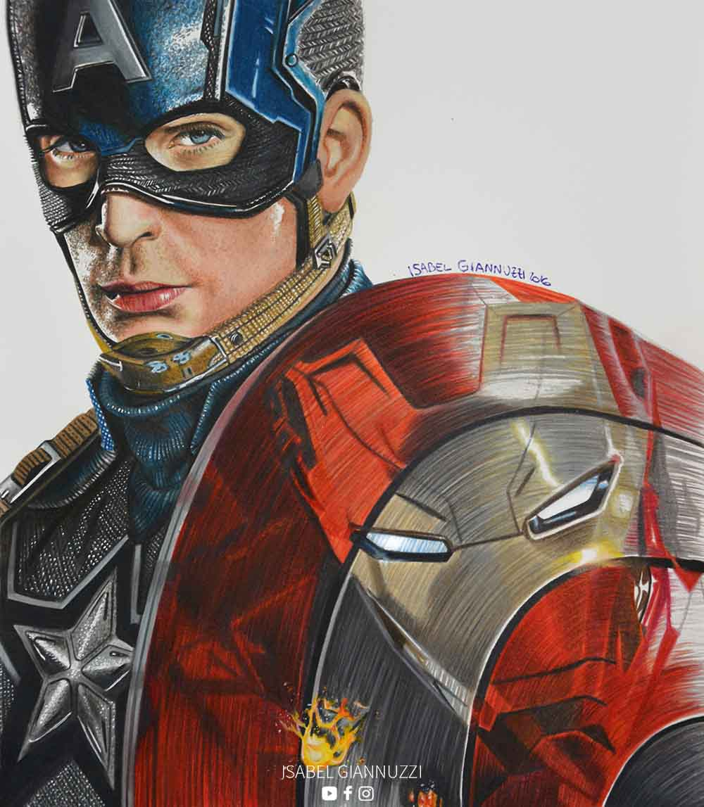 Disegno Capitan America Marvel Isabel Giannuzzi Arte E Disegno