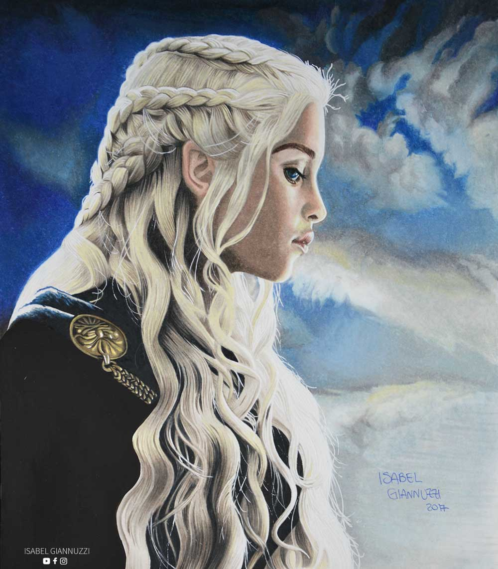 drawing-daenerys-targaryen-game-of-thrones-isabel-giannuzzi