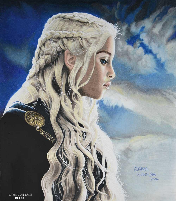 disegno-daenerys-targaryen-il-trono-di-spade-isabel-giannuzzi