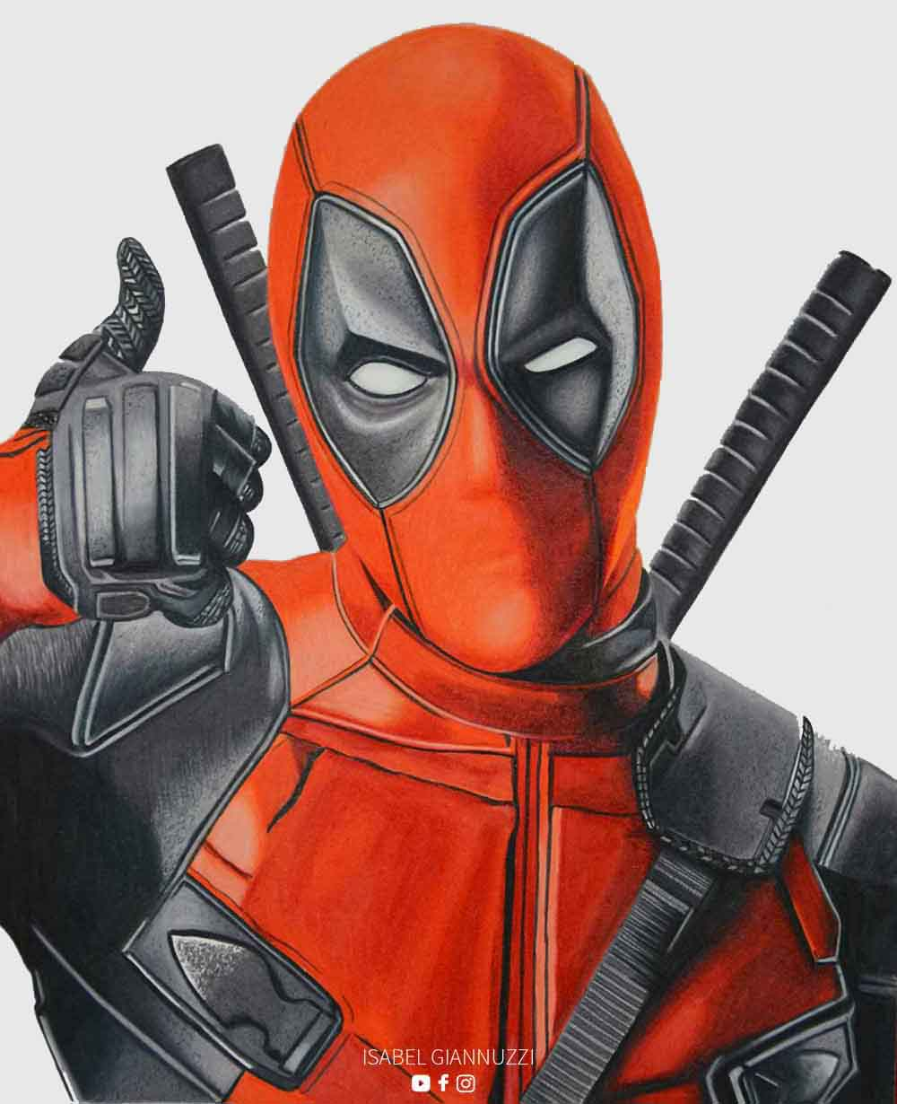 Drawing Deadpool | Marvel Drawings - Isabel Giannuzzi Art ...Deadpool Sketch