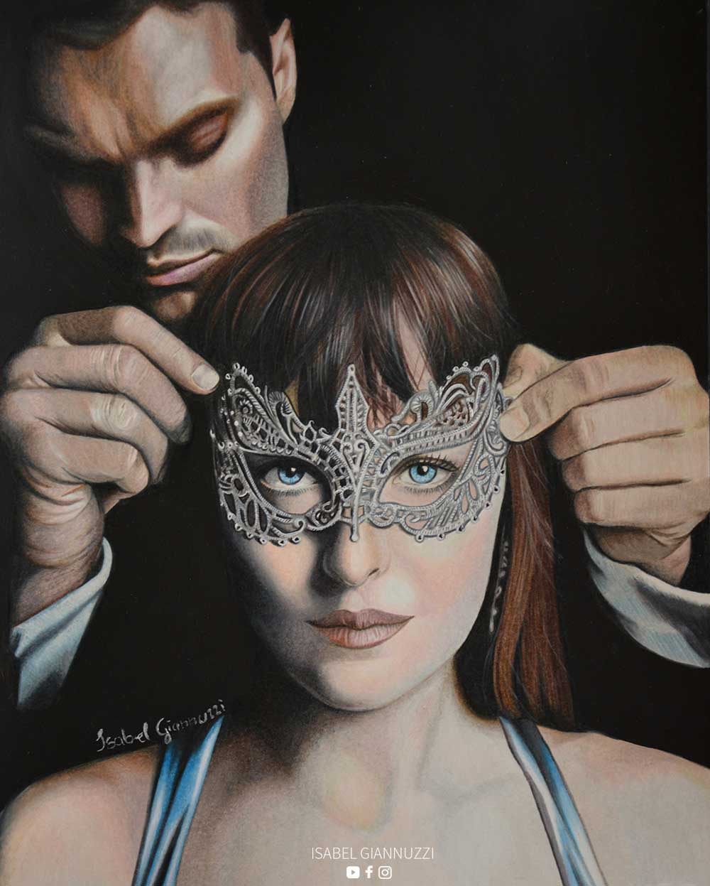 Drawing Fifty Shades Darker by Isabel Giannuzzi