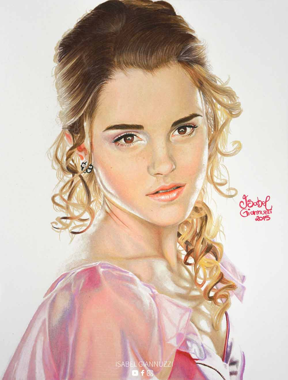 drawing-hermione-granger-isabel-giannuzzi-art
