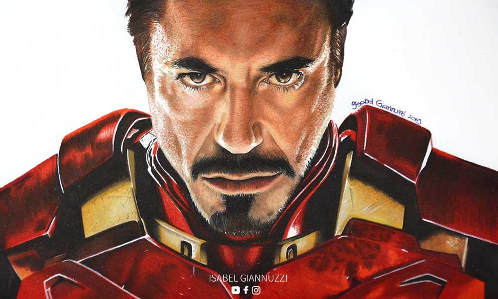 Drawing Iron Man Art