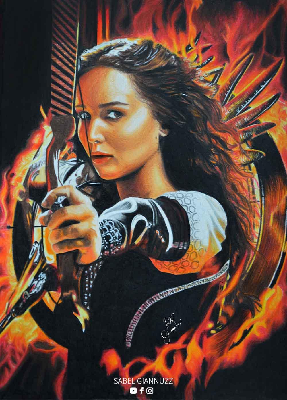 Drawing Katniss Everdeen Art