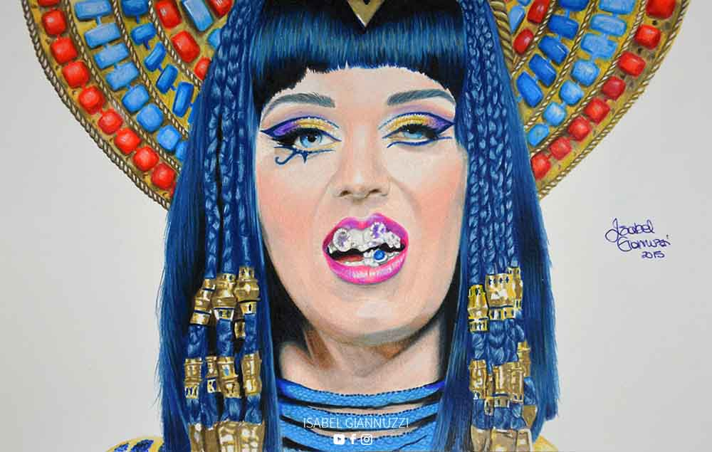 Drawing Katy Perry Art