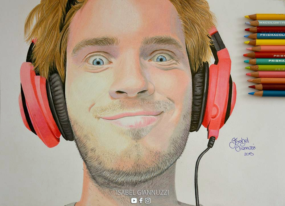 Drawing Pewdiepie Fan Art