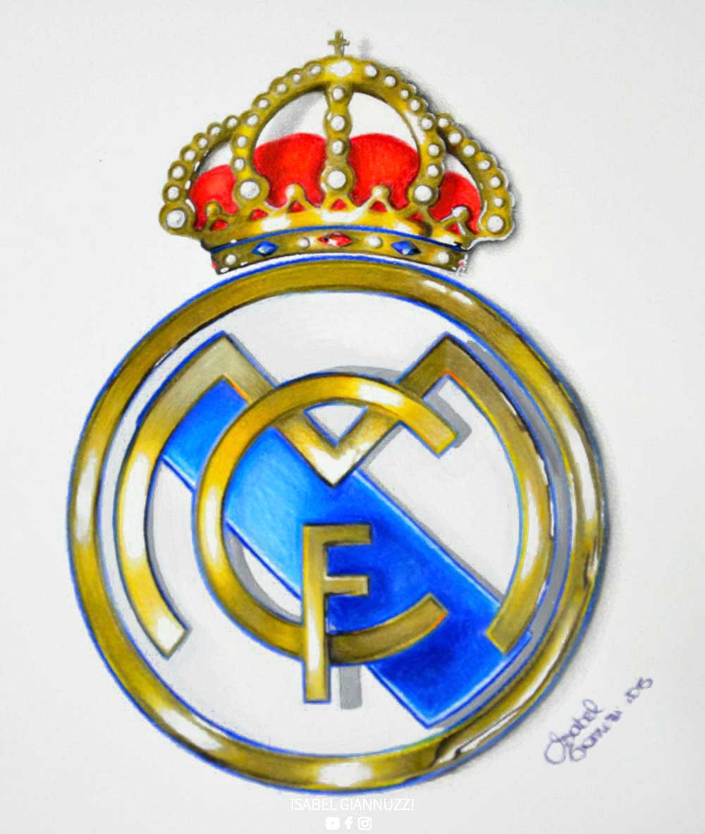 Disegno Stemma Real Madrid 3D