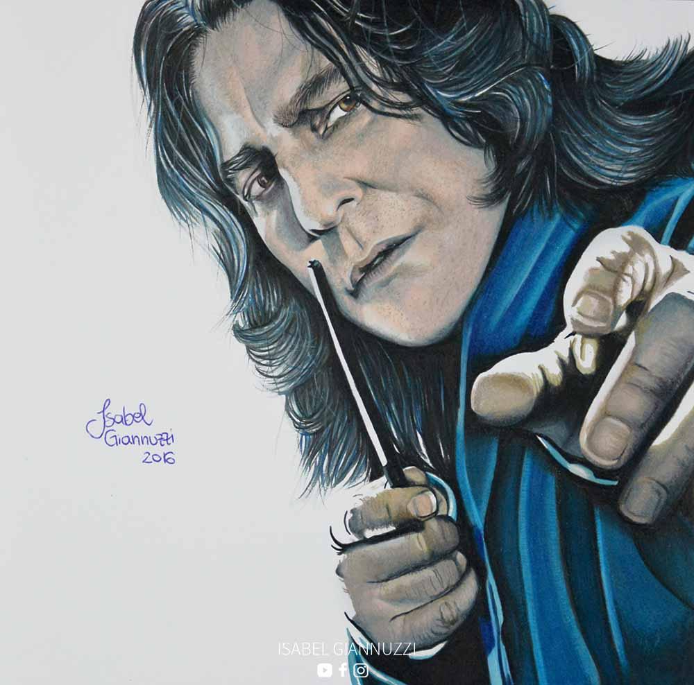 Drawing Severus Snape Harry Potter