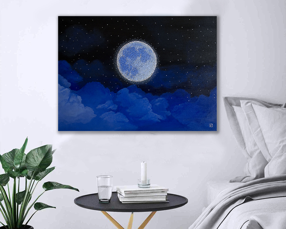 crystals painting moon light isabel giannuzzi