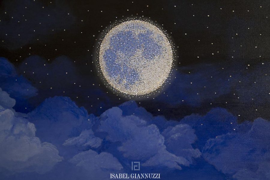crystals painting moonlight isabel giannuzzi