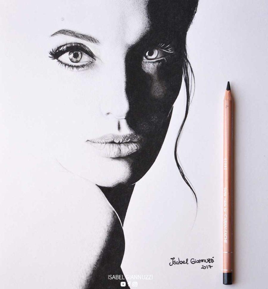 commission portrait black and white