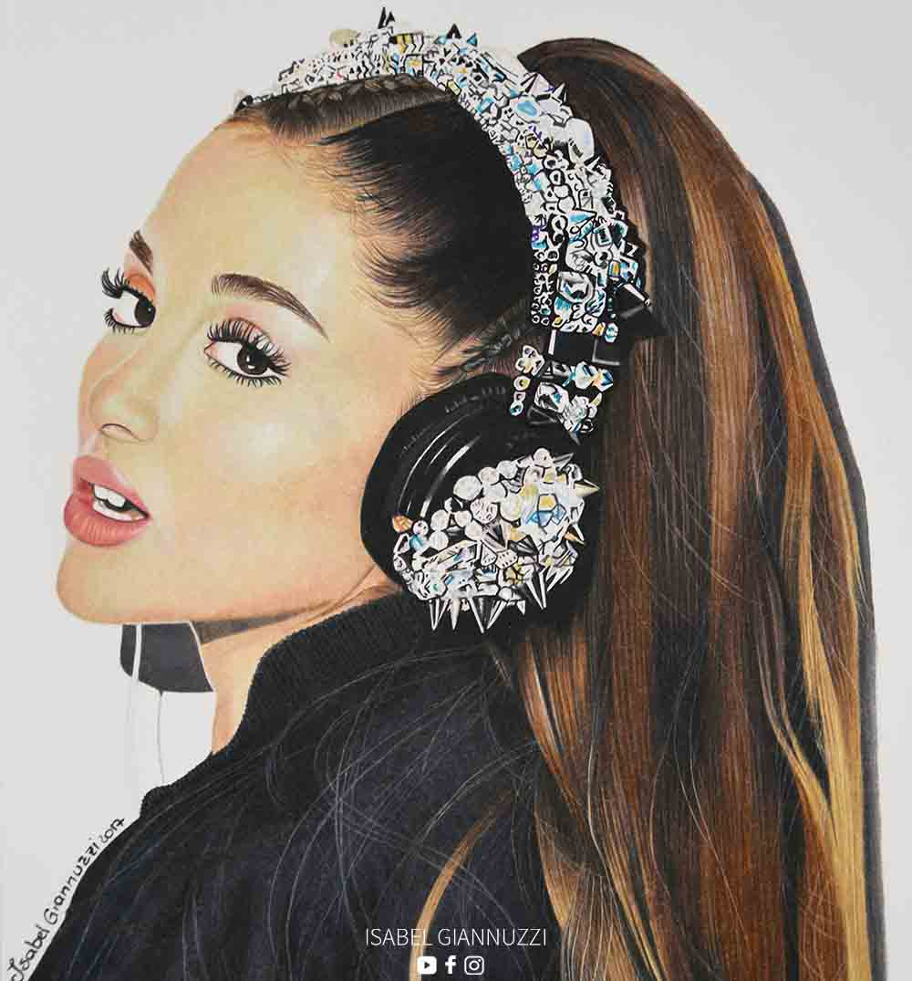 ariana grande drawing video