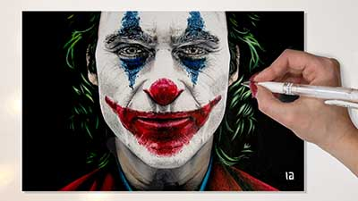 Disegno Joker 2019 Joaquin Phoenix