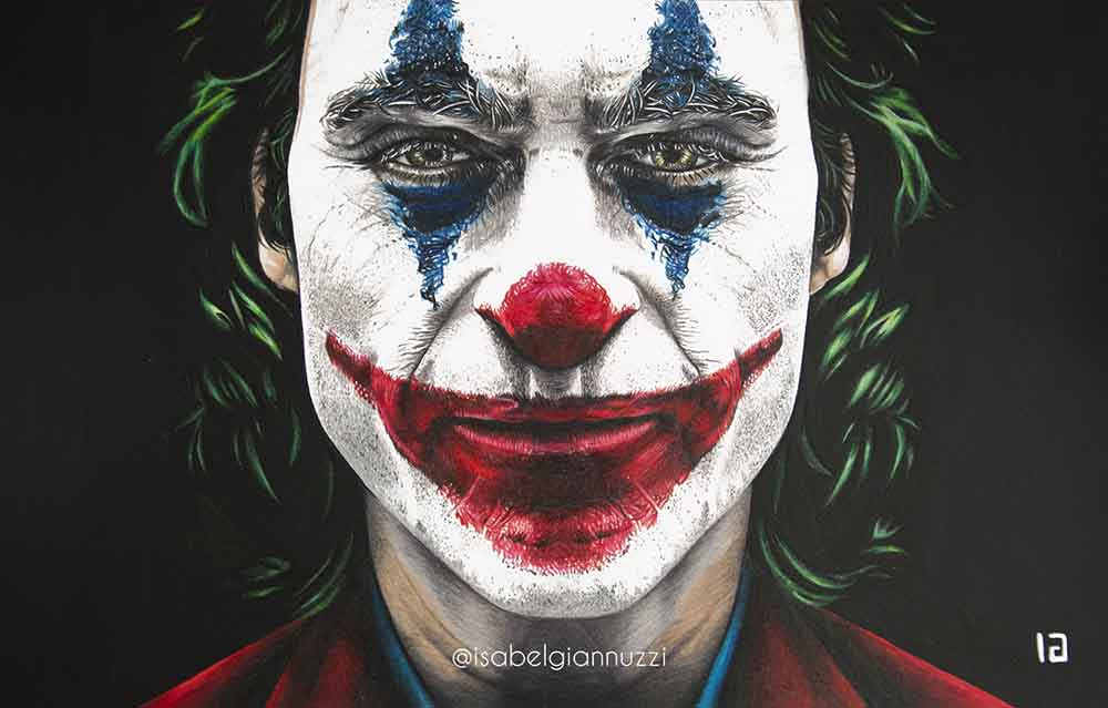 Drawing Joker 2019 Joaquin Phoenix