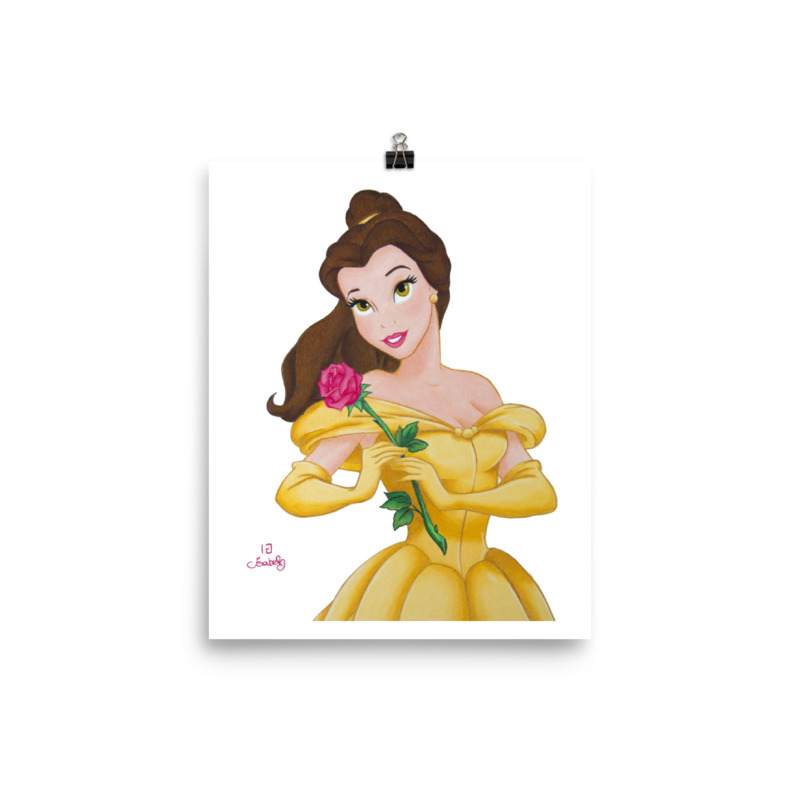 Stampa Principessa Belle Disney